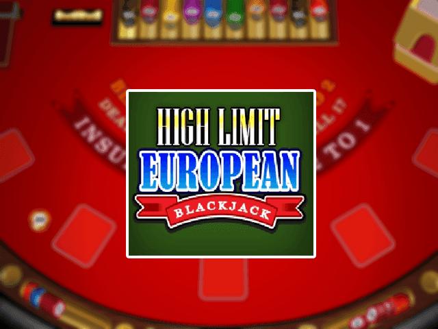 Блэкджек High Limit European Blackjack